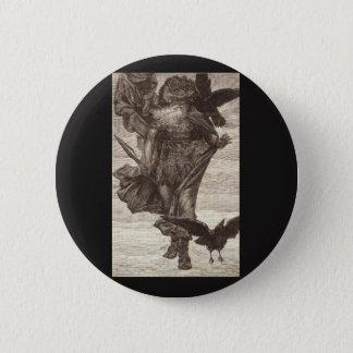 Badge Rond 5 Cm 1871 Odin, Dieu des norses de la guerre