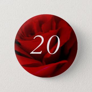 Badge Rond 5 Cm 20ème Anniversaire