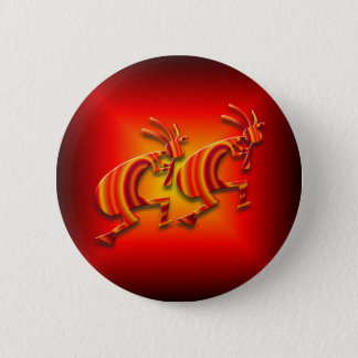 Badge Rond 5 Cm 2 Kokopelli #73