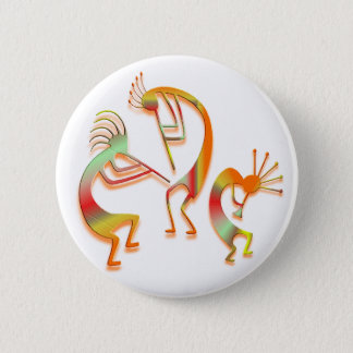 Badge Rond 5 Cm 3 Kokopelli #51