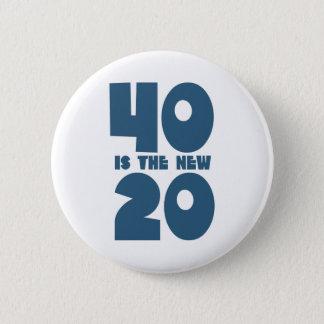 Badge Rond 5 Cm 40 est les nouveaux 20