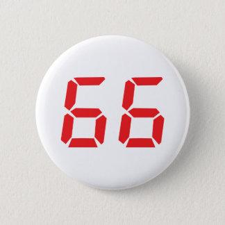 Badge Rond 5 Cm 66 soixante-six nombres numériques de réveil de