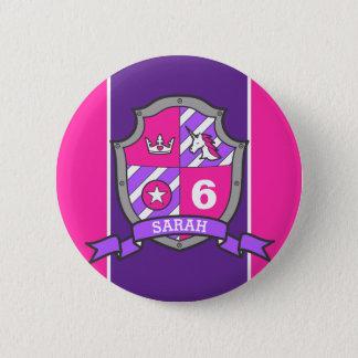 Badge Rond 5 Cm 6ème Le pourpre rose d'anniversaire adoube la