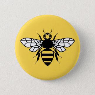 Badge Rond 5 Cm Abeille de Manchester
