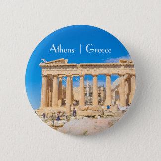 Badge Rond 5 Cm Acropole à Athènes, Grèce