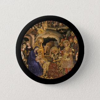 Badge Rond 5 Cm Adoration des Magi du 14ème siècle