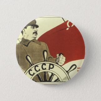 Badge Rond 5 Cm Affiche communiste vintage russe de propagande
