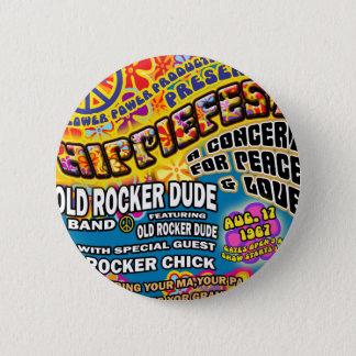 Badge Rond 5 Cm Affiche de concert de Hippiefest