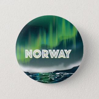 Badge Rond 5 Cm Affiche de voyage de lumières du nord de l'aurore