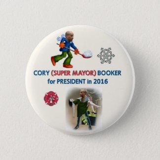 Badge Rond 5 Cm Agent de réservations de Cory pour le président