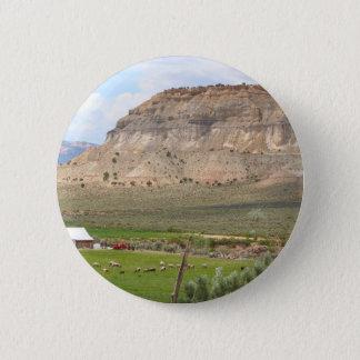 Badge Rond 5 Cm Agriculture du pays et des collines, l'Utah du sud