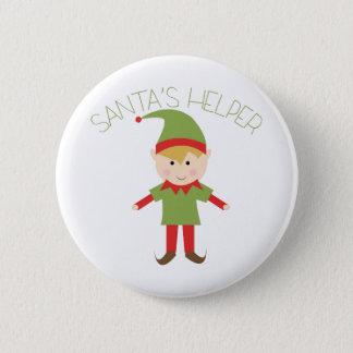 Badge Rond 5 Cm Aide de Santa