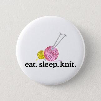 Badge Rond 5 Cm Aiguilles et fil de tricot