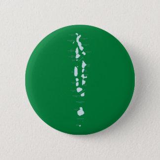 Badge Rond 5 Cm Aimant de carte des Maldives