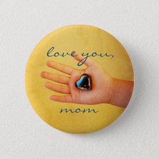 """Badge Rond 5 Cm """"Aimez la main vous, de l'enfant de maman"""" et le"""