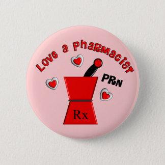 """Badge Rond 5 Cm """"Aimez les cadeaux uniques du pharmacien un PRN"""""""