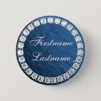 Badge Rond 5 Cm Ajoutez le diamant nom-personnalisable