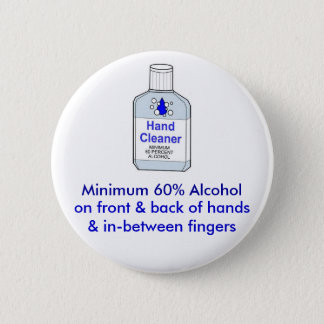 Badge Rond 5 Cm Alcool du minimum 60%