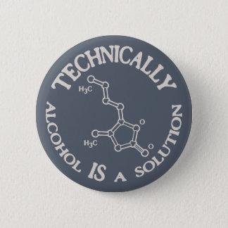 Badge Rond 5 Cm Alcool, une solution