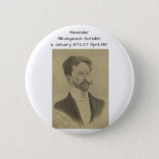 Badge Rond 5 Cm Alexandre Nikolayevich Scriabin