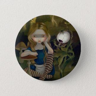"""Badge Rond 5 Cm """"Alice bouton dans de Bosch paysage"""""""