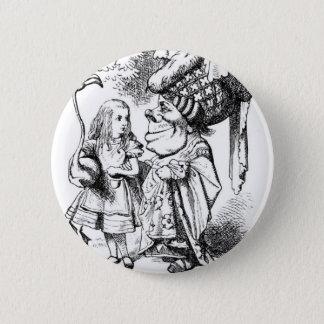 Badge Rond 5 Cm Alice et la reine rouge
