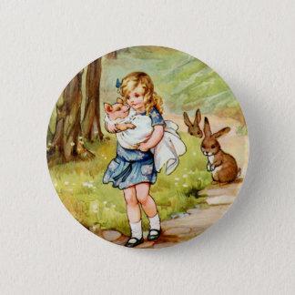 Badge Rond 5 Cm Alice et le bébé de porc