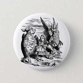 Badge Rond 5 Cm Alice vintage au pays des merveilles, Gryphon,