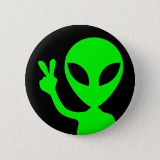 Badge Rond 5 Cm Alien de signe de paix