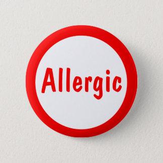 Badge Rond 5 Cm Allergique