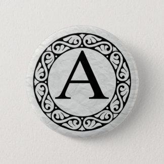 Badge Rond 5 Cm Alpha de lettre d'alphabet grec
