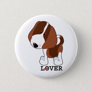 Badge Rond 5 Cm Amant de beagle