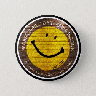 Badge Rond 5 Cm Ambassadeur 2016 bouton de Day® de sourire du