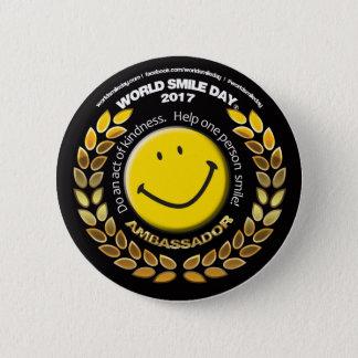 Badge Rond 5 Cm Ambassadeur 2017 bouton de jour de sourire du