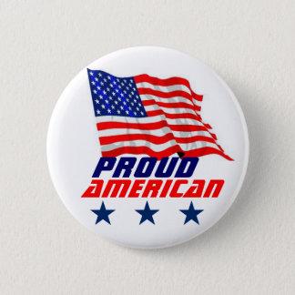 Badge Rond 5 Cm Américain fier