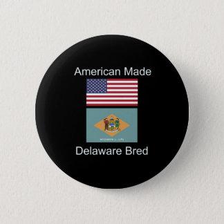 """Badge Rond 5 Cm """"Américain soutenu. Le Delaware a multiplié la"""""""