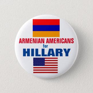 Badge Rond 5 Cm Américains arméniens pour Hillary 2016