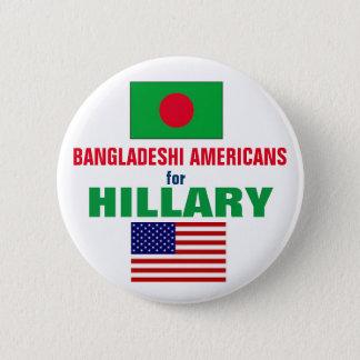 Badge Rond 5 Cm Américains bangladais pour Hillary 2016