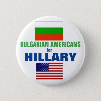 Badge Rond 5 Cm Américains bulgares pour Hillary 2016