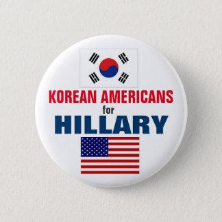 Badge Rond 5 Cm Américains coréens pour Hillary 2016