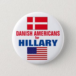 Badge Rond 5 Cm Américains danois pour Hillary 2016