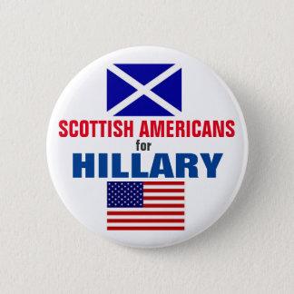 Badge Rond 5 Cm Américains écossais pour Hillary 2016