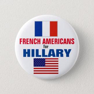 Badge Rond 5 Cm Américains français pour Hillary 2016