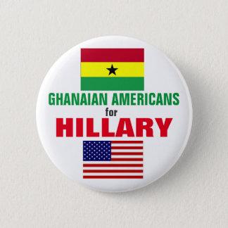Badge Rond 5 Cm Américains ghanéens pour Hillary 2016