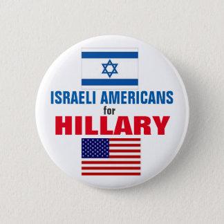 Badge Rond 5 Cm Américains israéliens pour Hillary 2016