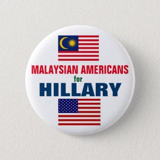 Badge Rond 5 Cm Américains malaisiens pour Hillary 2016