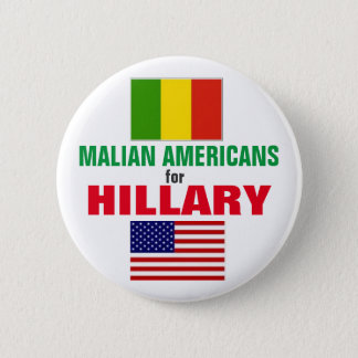 Badge Rond 5 Cm Américains maliens pour Hillary 2016