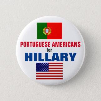 Badge Rond 5 Cm Américains portugais pour Hillary 2016
