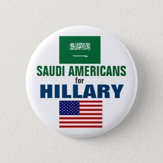 Badge Rond 5 Cm Américains saoudiens pour Hillary 2016
