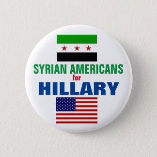 Badge Rond 5 Cm Américains syriens pour Hillary 2016
